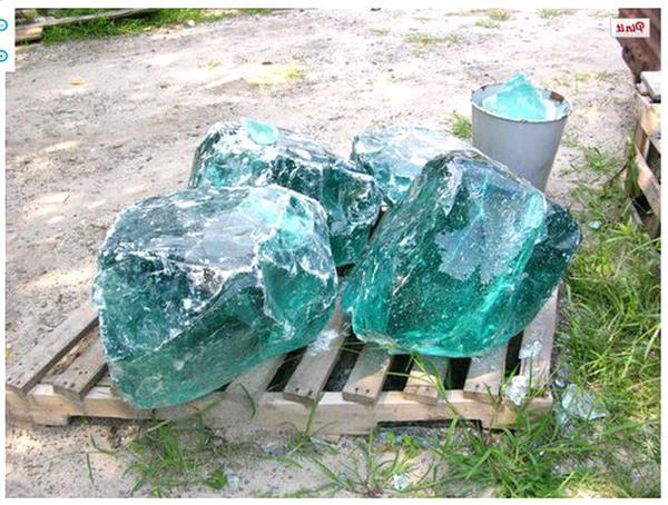 Slag Glass Chunk For Only 2 Left, Slag Glass Chunks