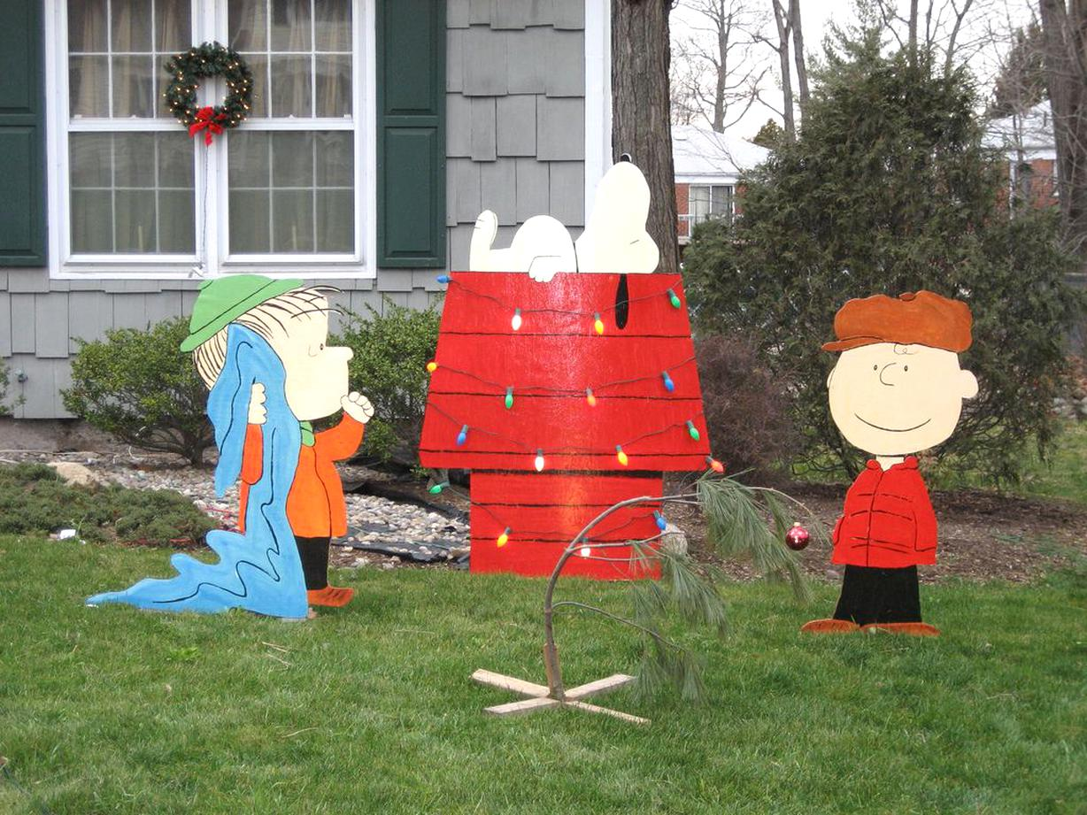 Home Garden Christmas Yard Decor Peanuts Lighted Outdoor