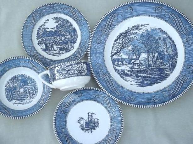 currier ives dishes for sale