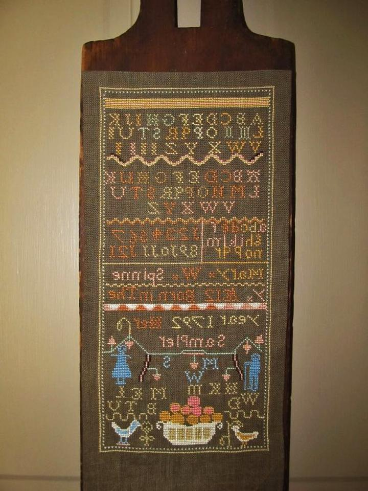 cross stitch sampler mary spinney for sale
