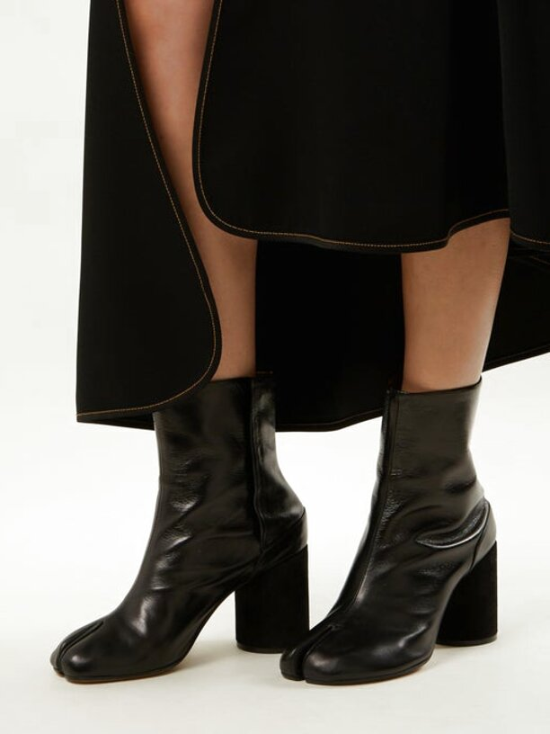 leather tabi boots for sale