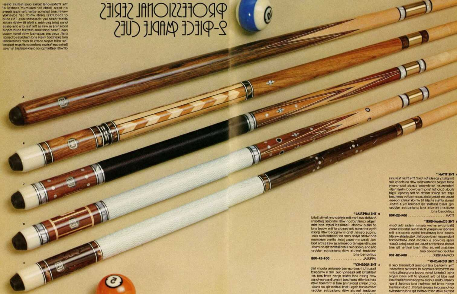 old pool cues for sale