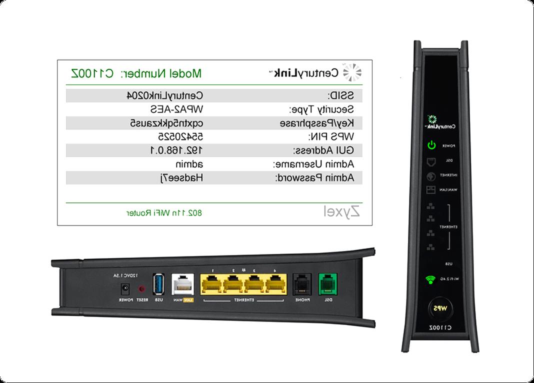 CenturyLink C3000Z Zyxel Bonded 2.4 /& 5ghz Wireless WiFi Modem Router SEALED