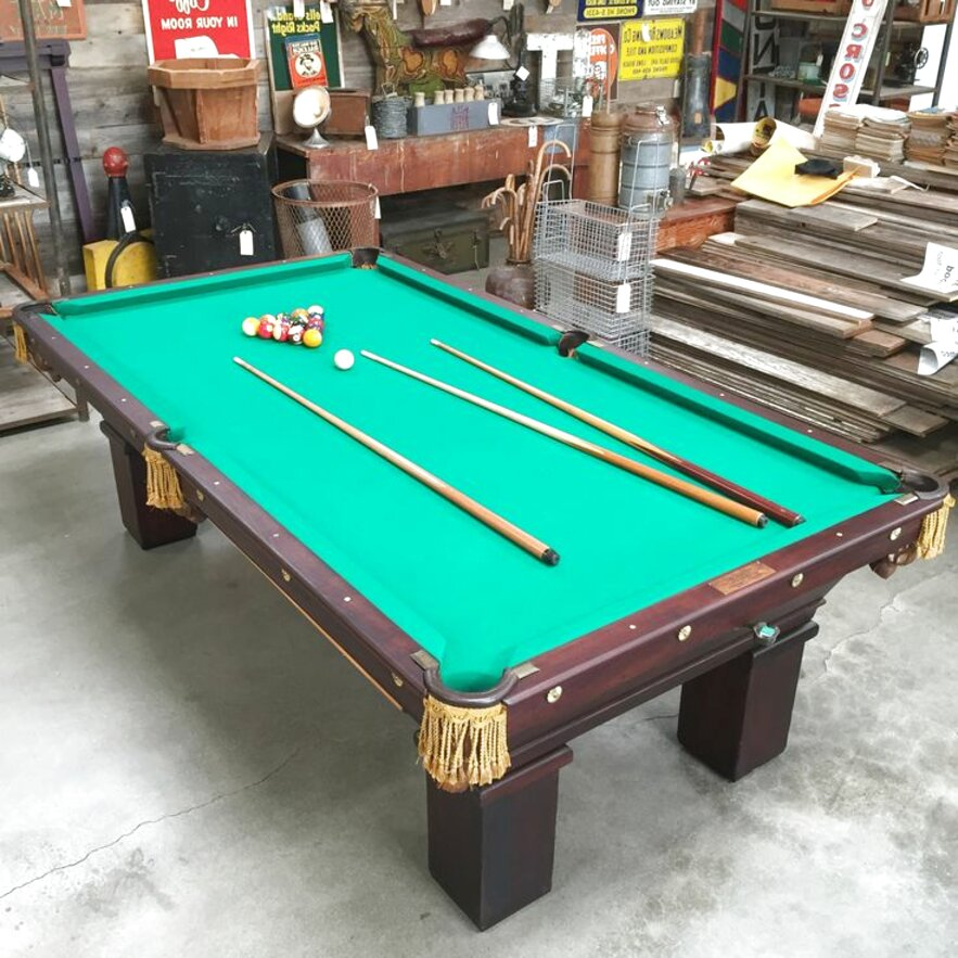 antique brunswick pool tables for sale