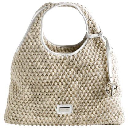 borsa coccinelle beige usato