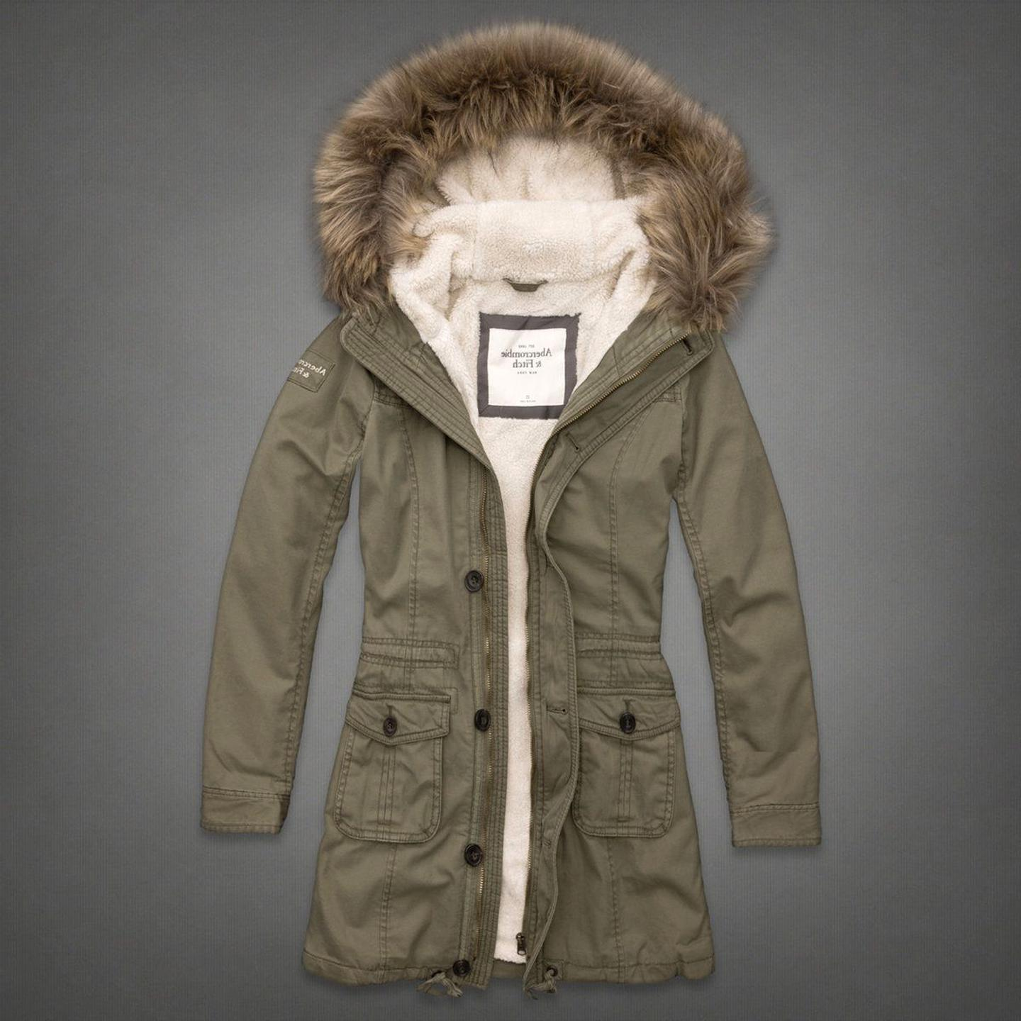 abercrombie fitch womens parka for sale