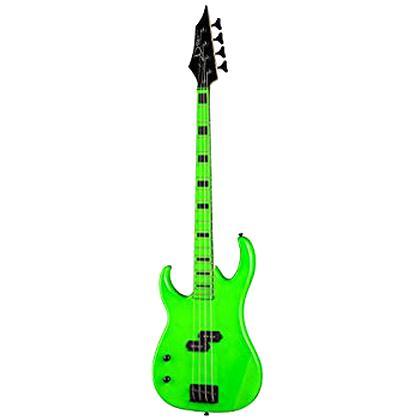 green bass guitar for sale