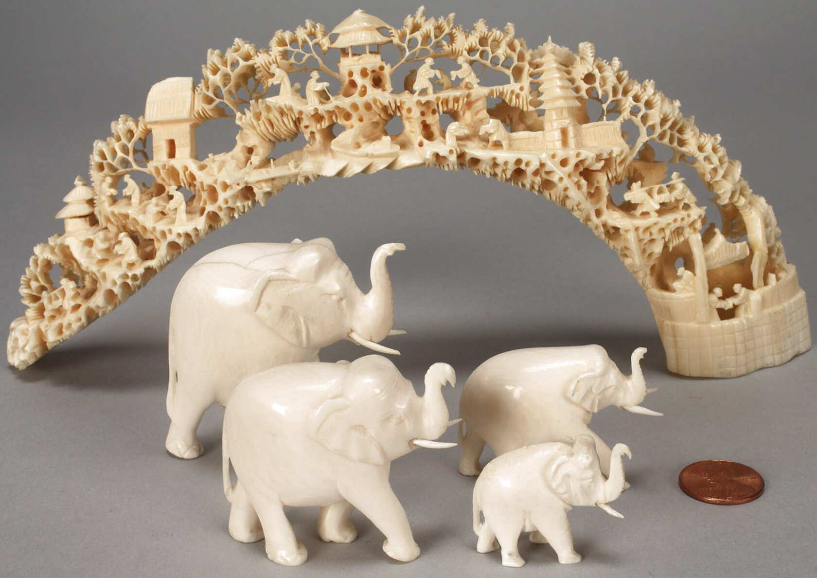 Elephant Ivory Carvings for sale | Only 3 left at -65%