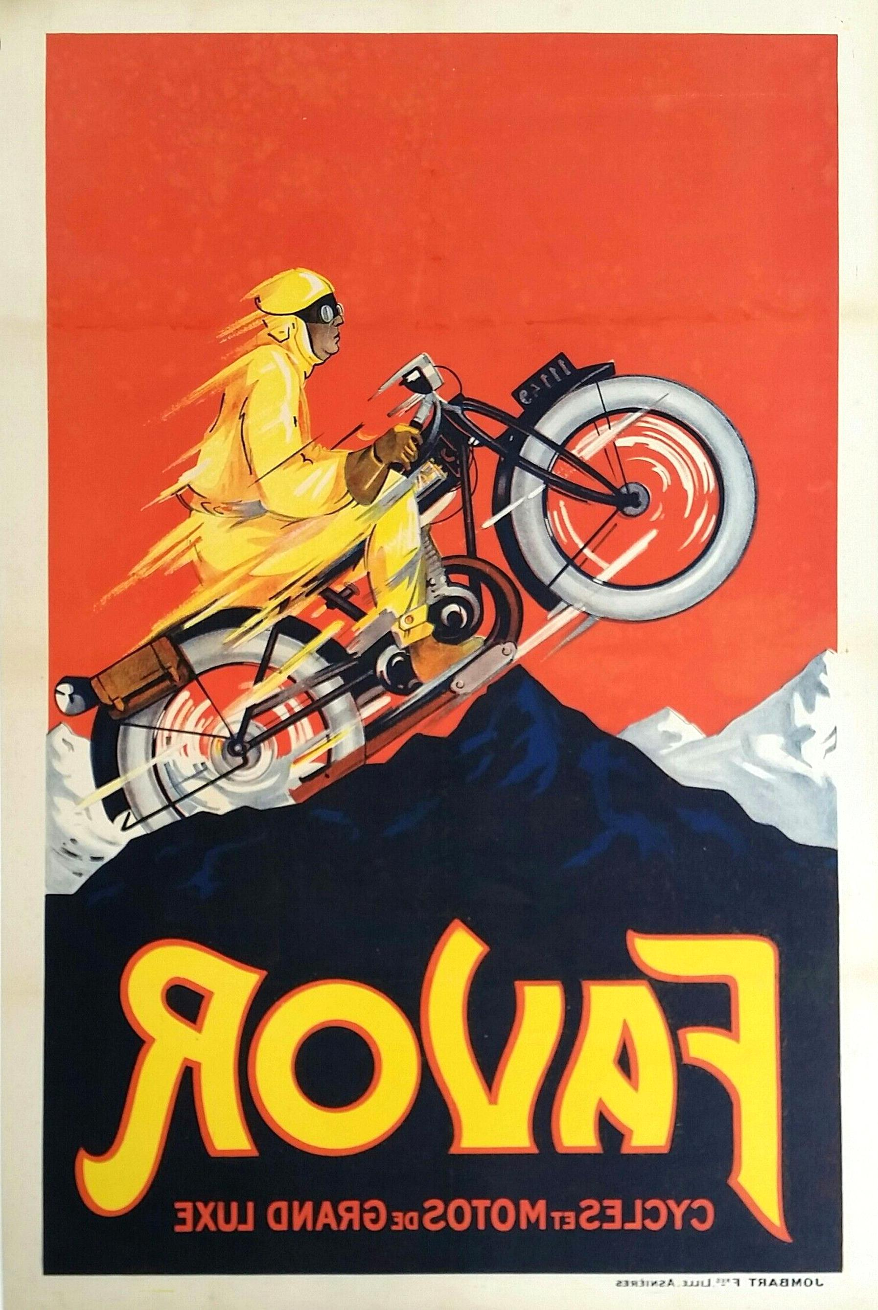 Original Vintage Motorcycle Posters For Sale Only 3 Left At 60