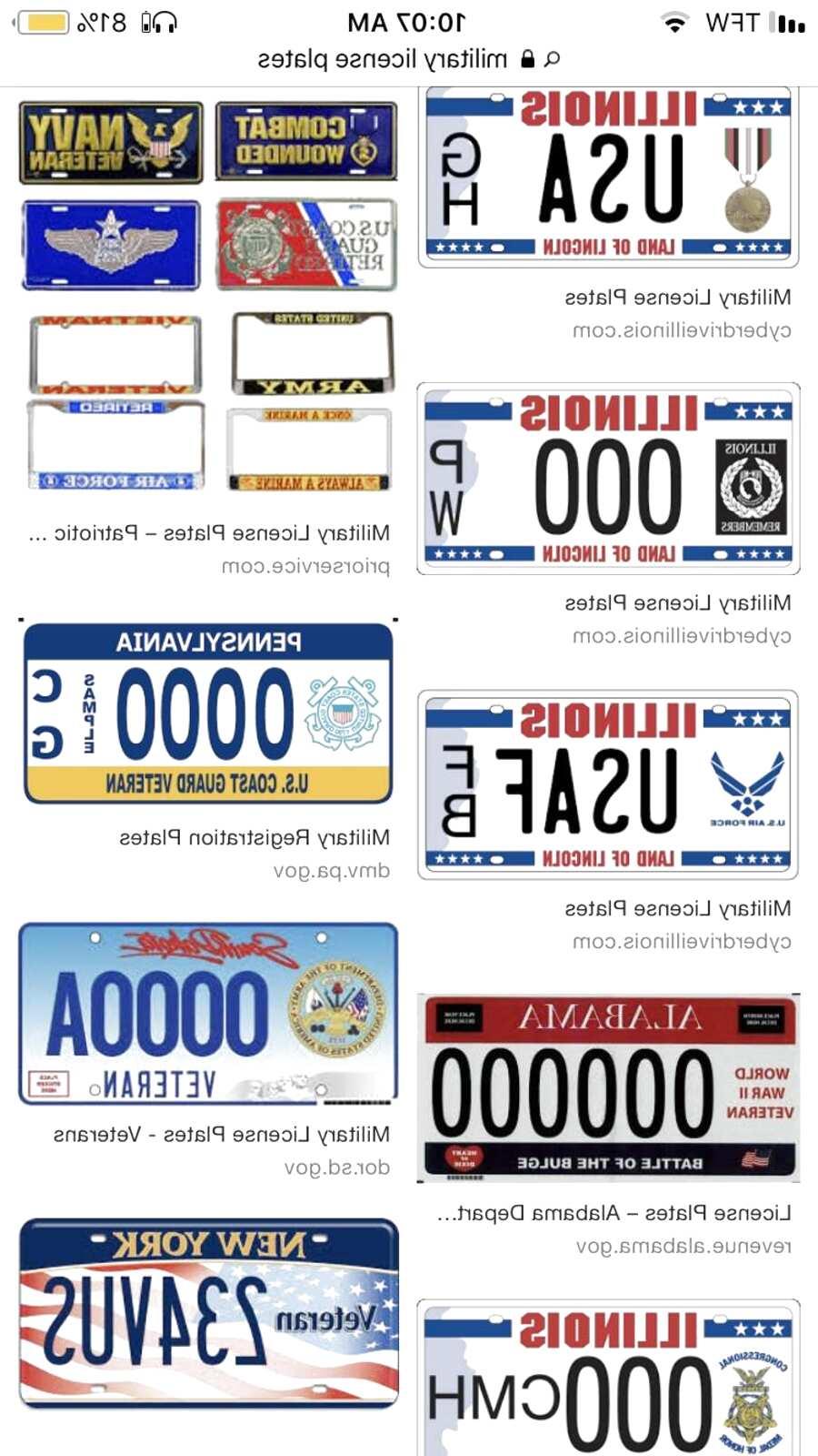 Iraq Veteran License Plate Frame Bundle with Iraq Veteran Decal