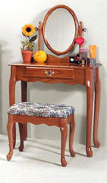 oak vanity table for sale