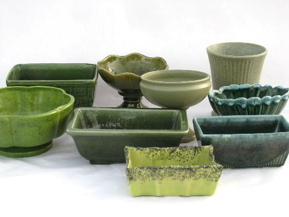 vintage pottery planters for sale