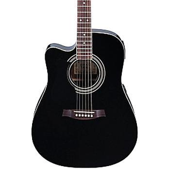 ibanez black acoustic guitar for sale