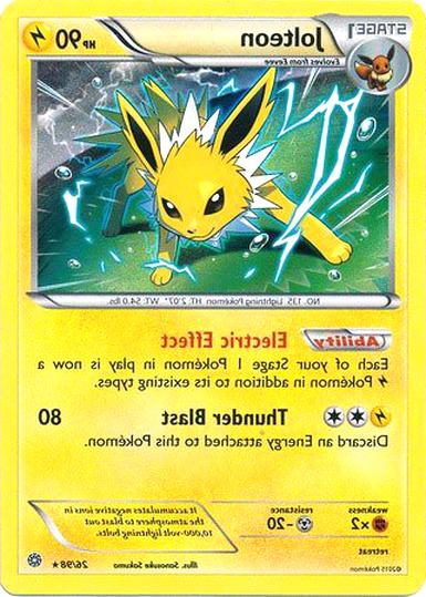 jolteon pokemon card for sale