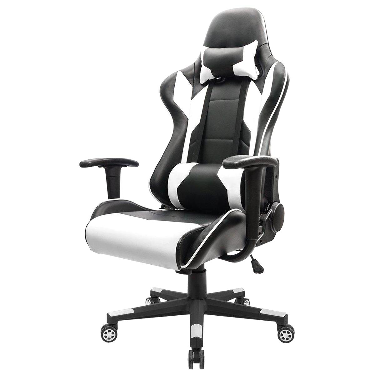 gaming chair black white for sale
