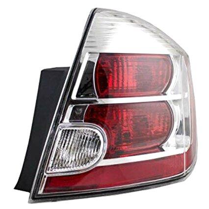 For 2007-2009 Nissan Sentra JDM SPEC Black Red Brake Lamp Tail Lights Assembly