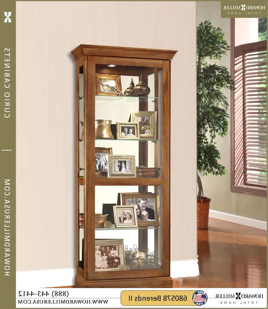 oak curio cabinet for sale