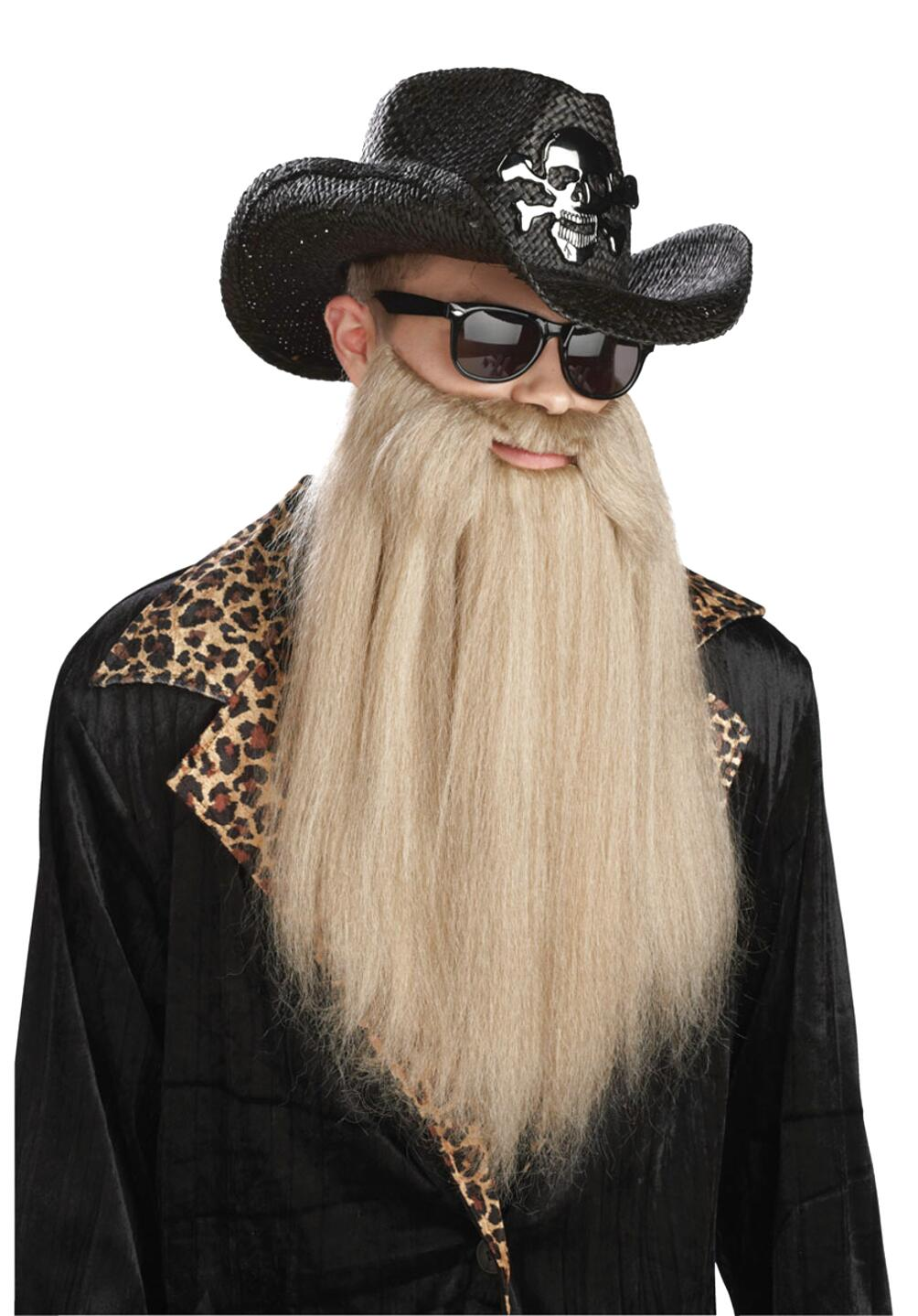 Blonde ZZ Top Style Beard ZZ Top Style Costume Beard In Blonde