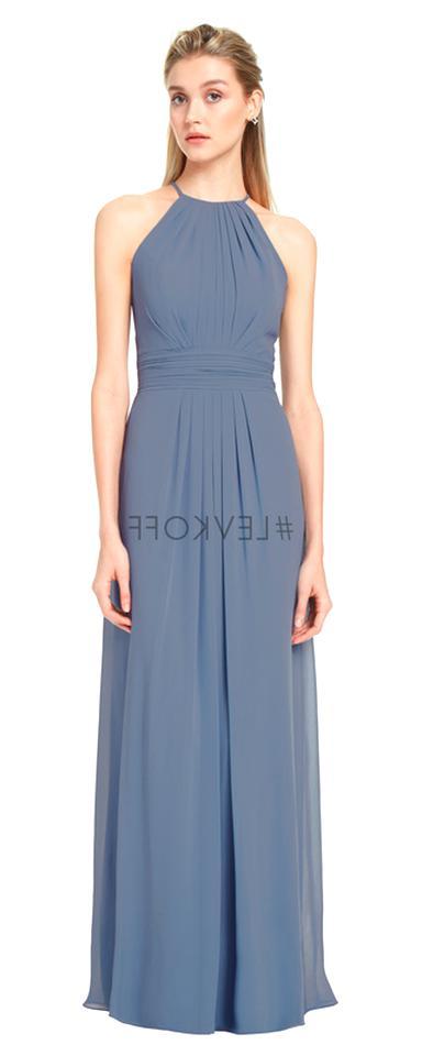 Bill Levkoff Bridesmaid Dress 741 Prom Wedding Chiffon Long Gown Strapless NEW