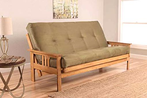 futon sofa bed oak for sale