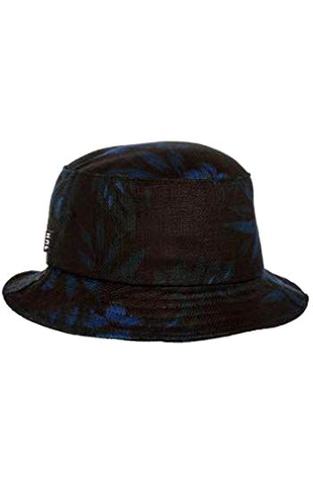 BLACK HUF Men/'s 100/% Leather F*** It Bucket Hat S//M