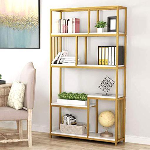gold bookshelves for sale