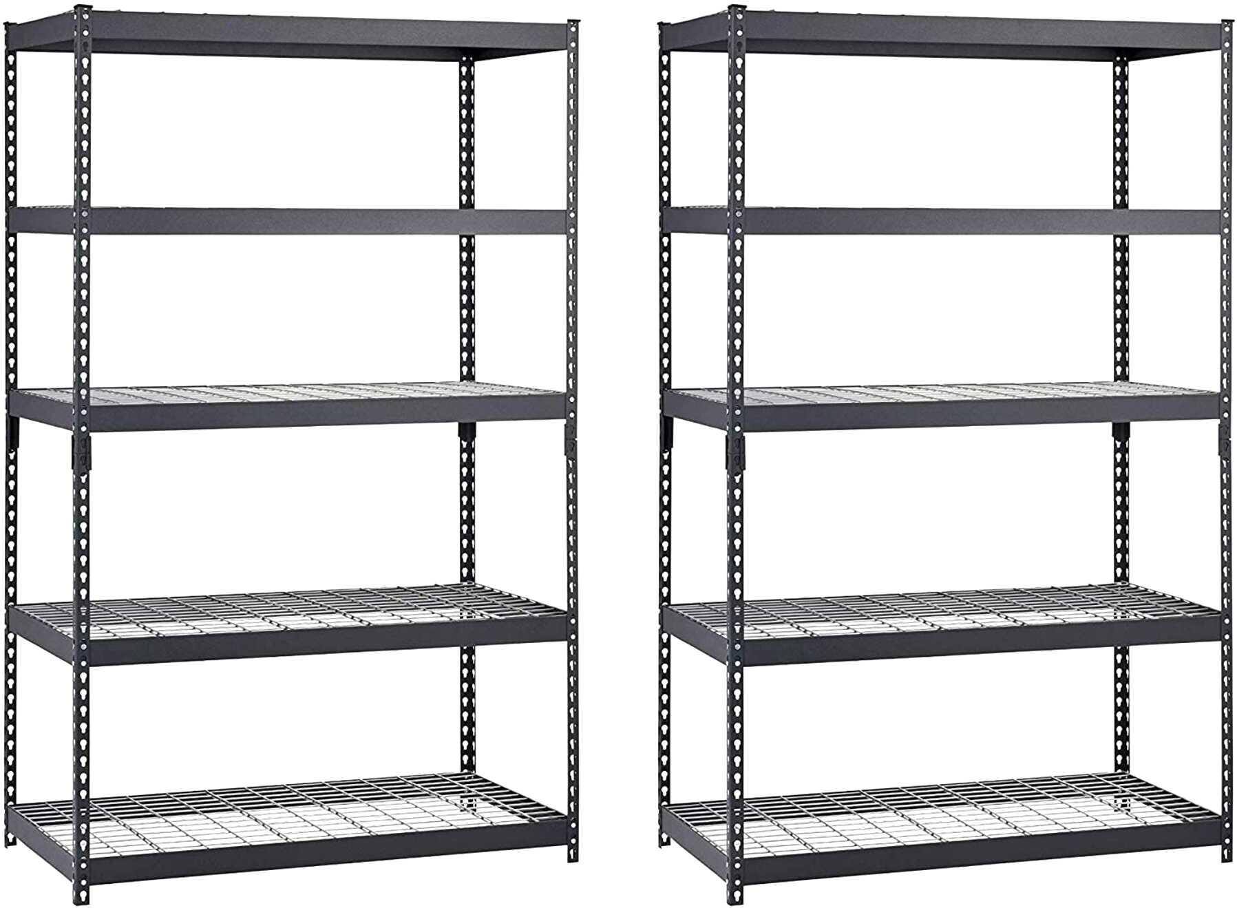 heavy duty steel shelves x 2 for sale