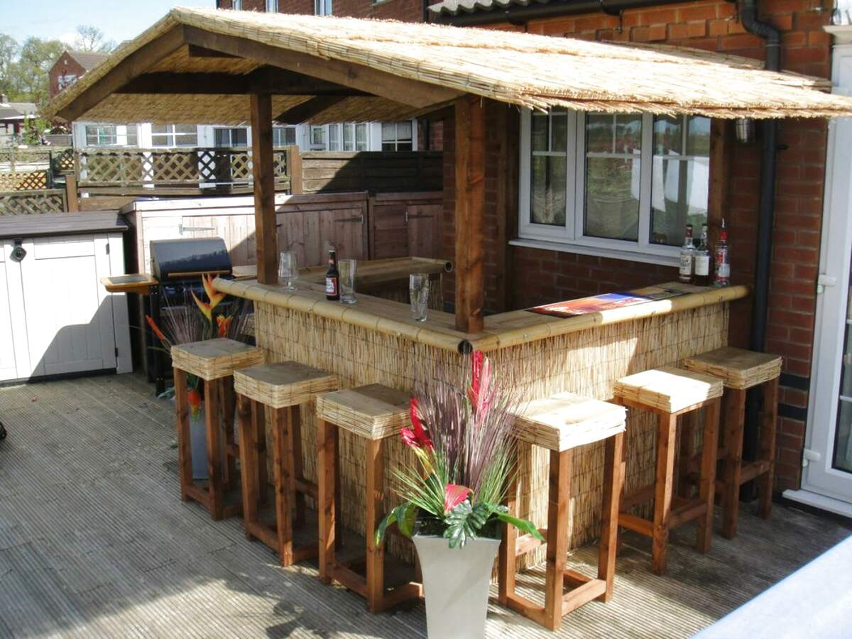 Outdoor Tiki Bar for sale   Only 2 left at -60%
