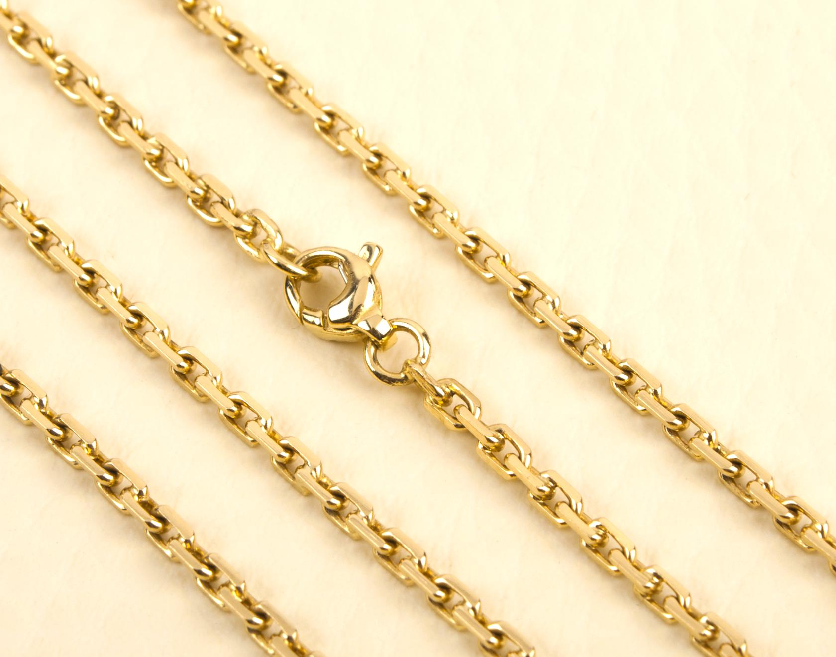 14k solid gold mens chain for sale