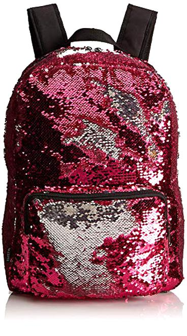 Sparkly Violet//LightBlue HeySun Glitter Sequins Backpack Girls Flip Travel Backpack