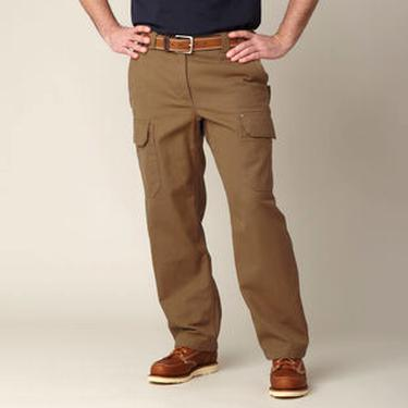 Duluth Trading Flex Fire Hose Cargo Work Pants Men/'s 50x30 Brown Khaki Tan