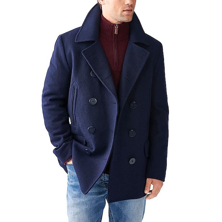 j crew pea coat mens for sale