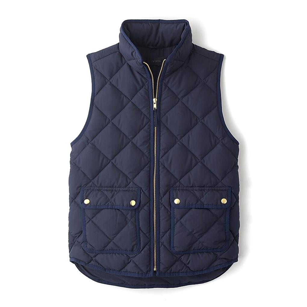 j crew quilted vest for sale