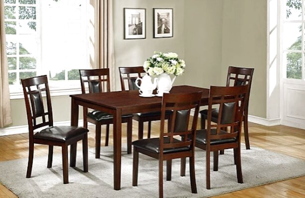 wood dining table w 6 chairs for sale
