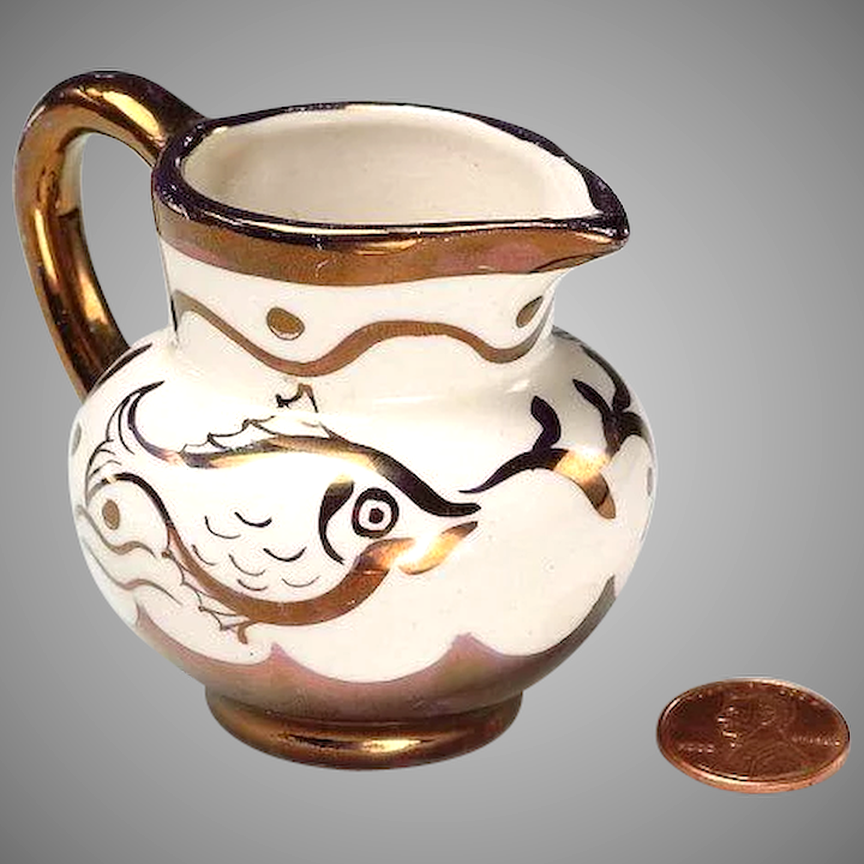 copper lustre pitcher for sale