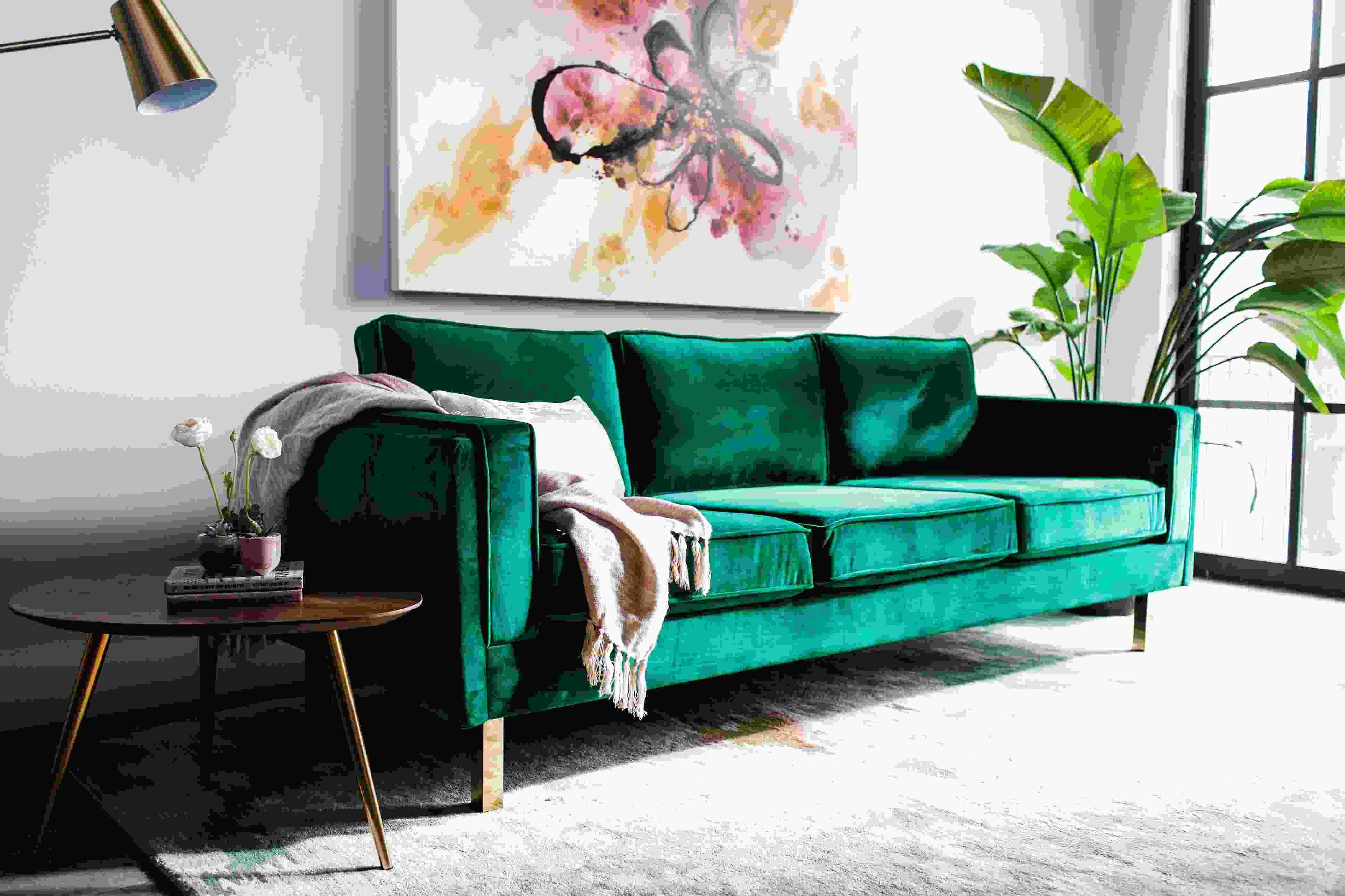 green velvet sofa for sale