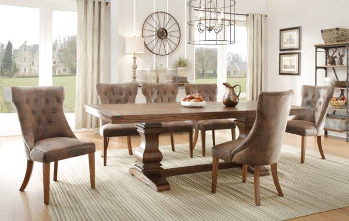 oak pedestal dining table for sale