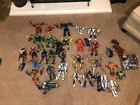 Lot of 5 Mixed Lego Bionicle Shields
