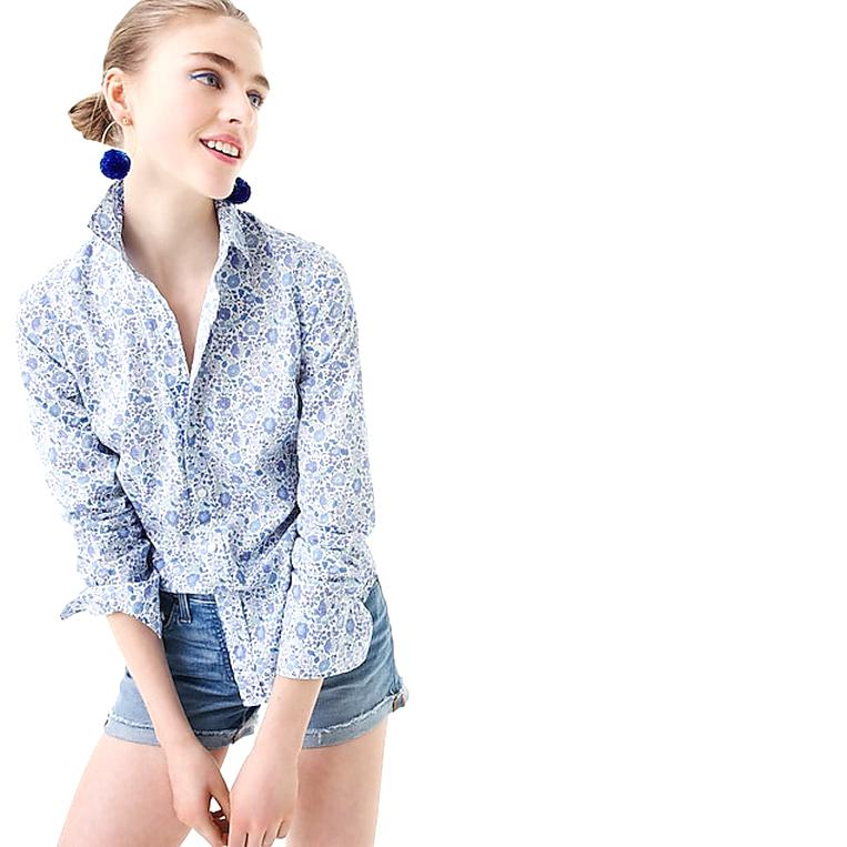 j crew perfect shirt for sale