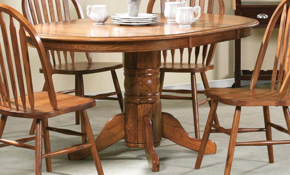 oak pedestal table for sale