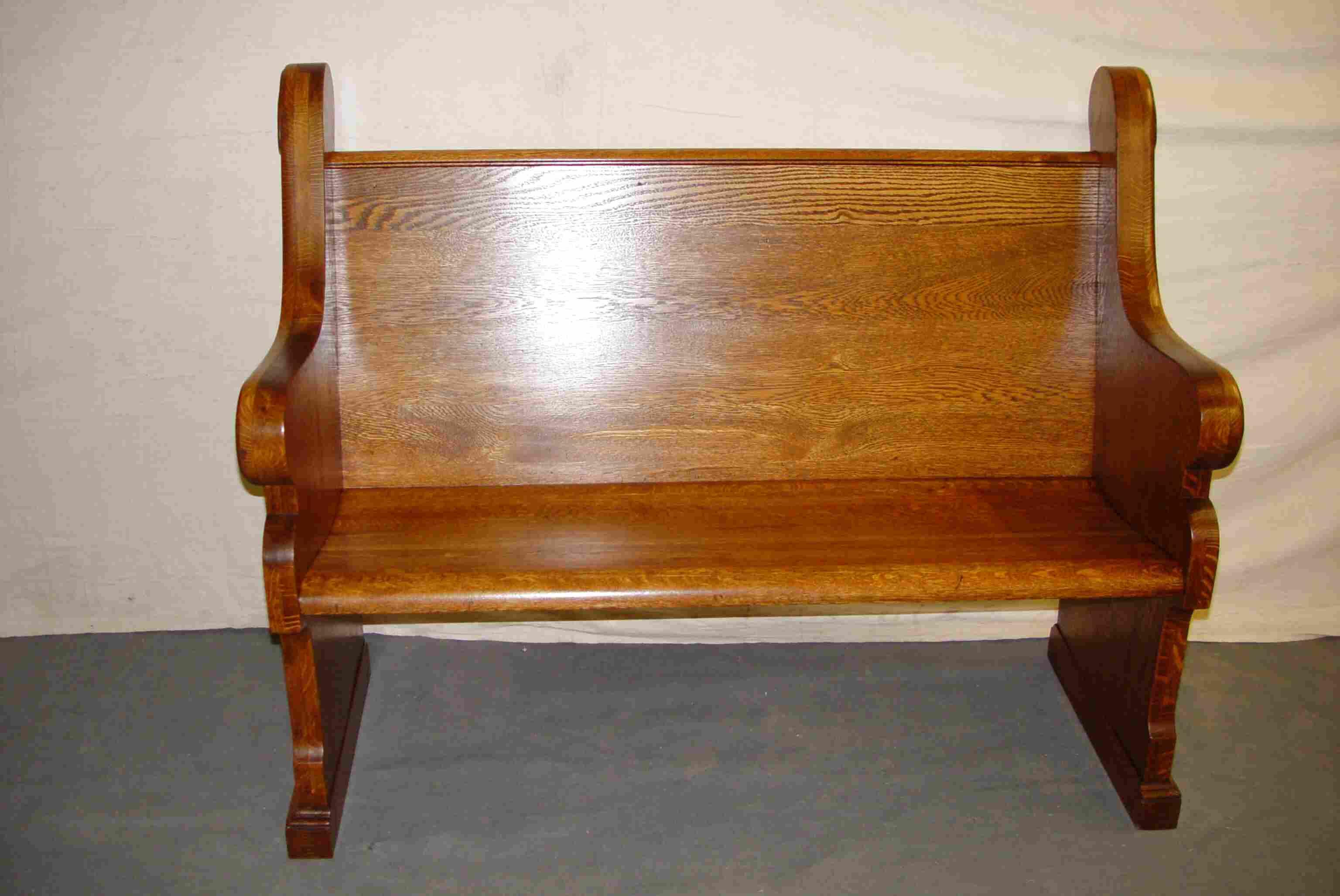 oak pew for sale