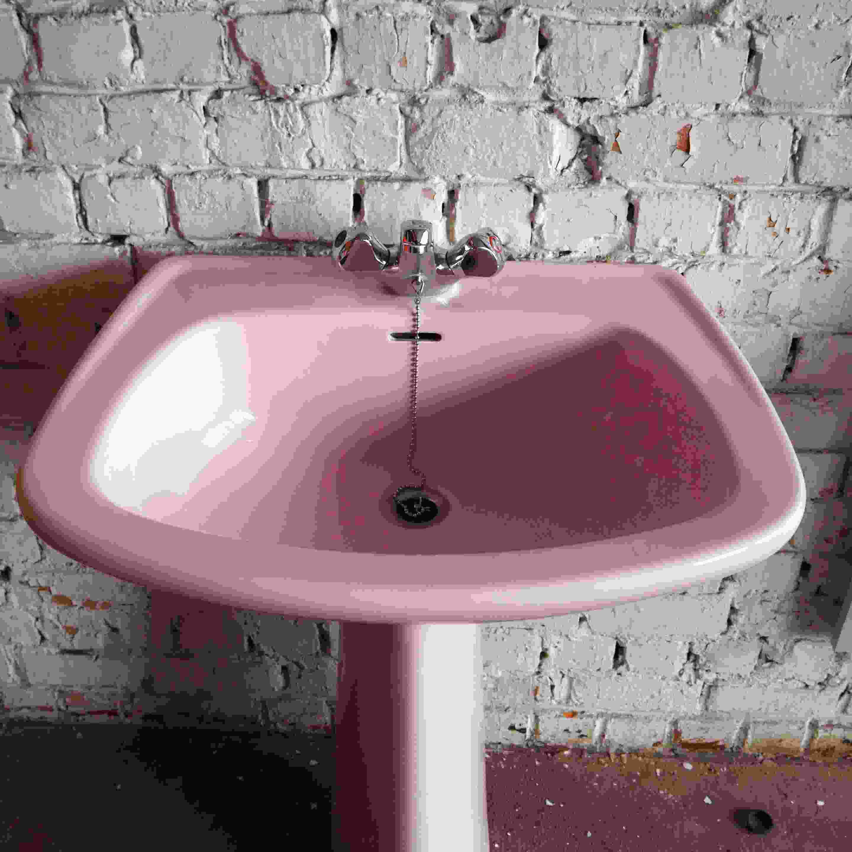 pink bathroom sink for sale