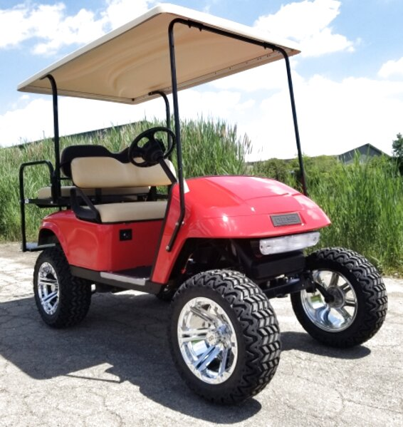 lifted gas golf carts for sale