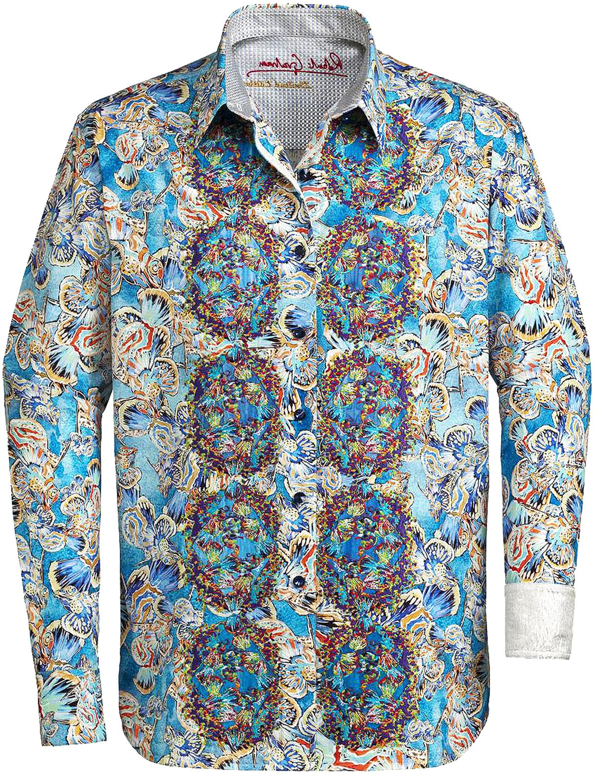 Robert Graham Mid Hills Short Sleeve Tall Fit Shirt
