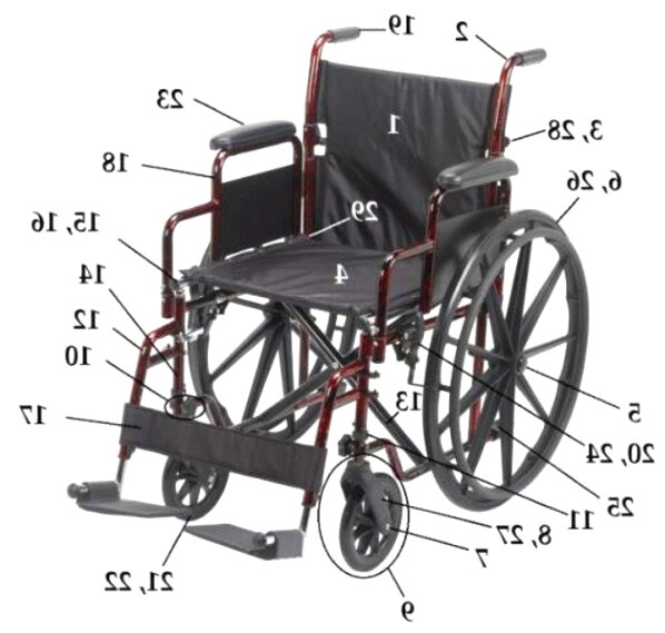wheelchair parts for sale
