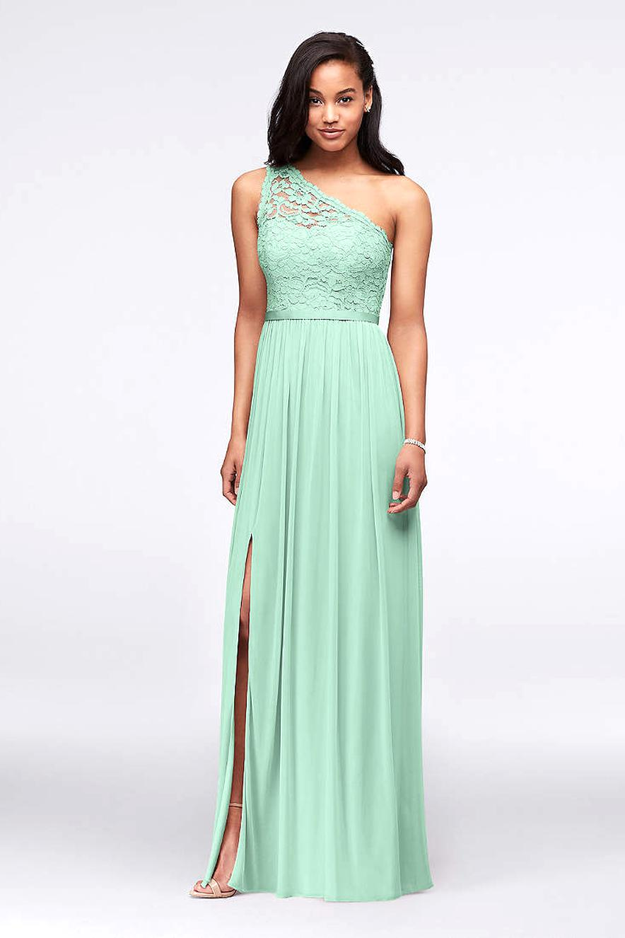 davids bridal bridesmaid mint green for sale