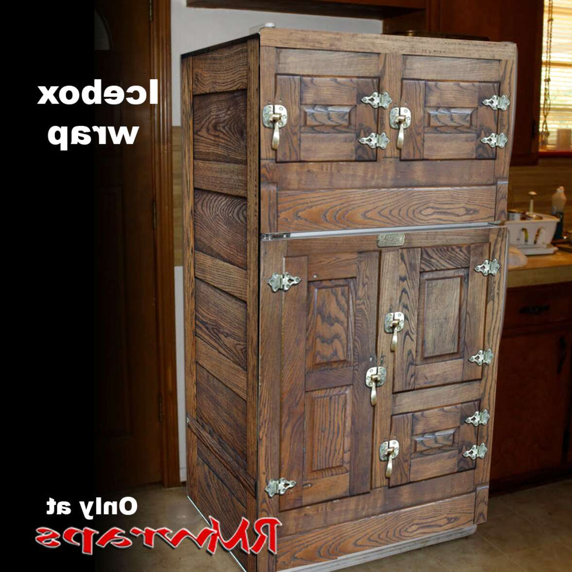Antique Ice Box Refrigerator for sale | Only 4 left at -70%