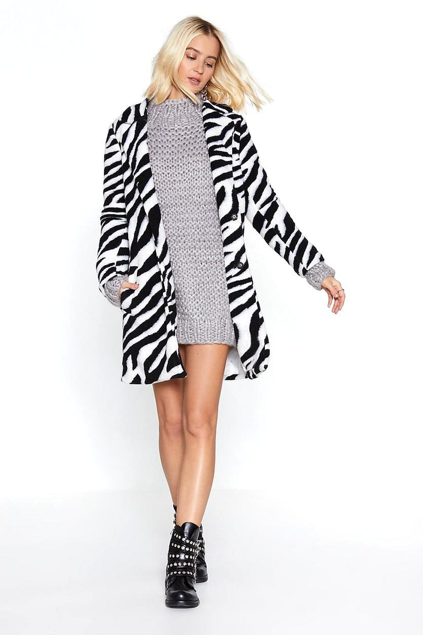 zebra coat for sale