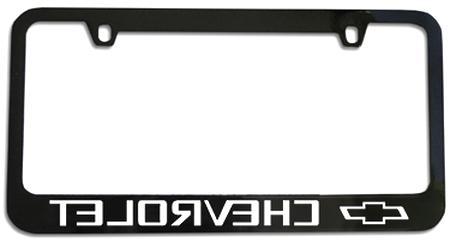 Chevy SS Black Chrome Plated Brass License Plate Frame Baronlfi