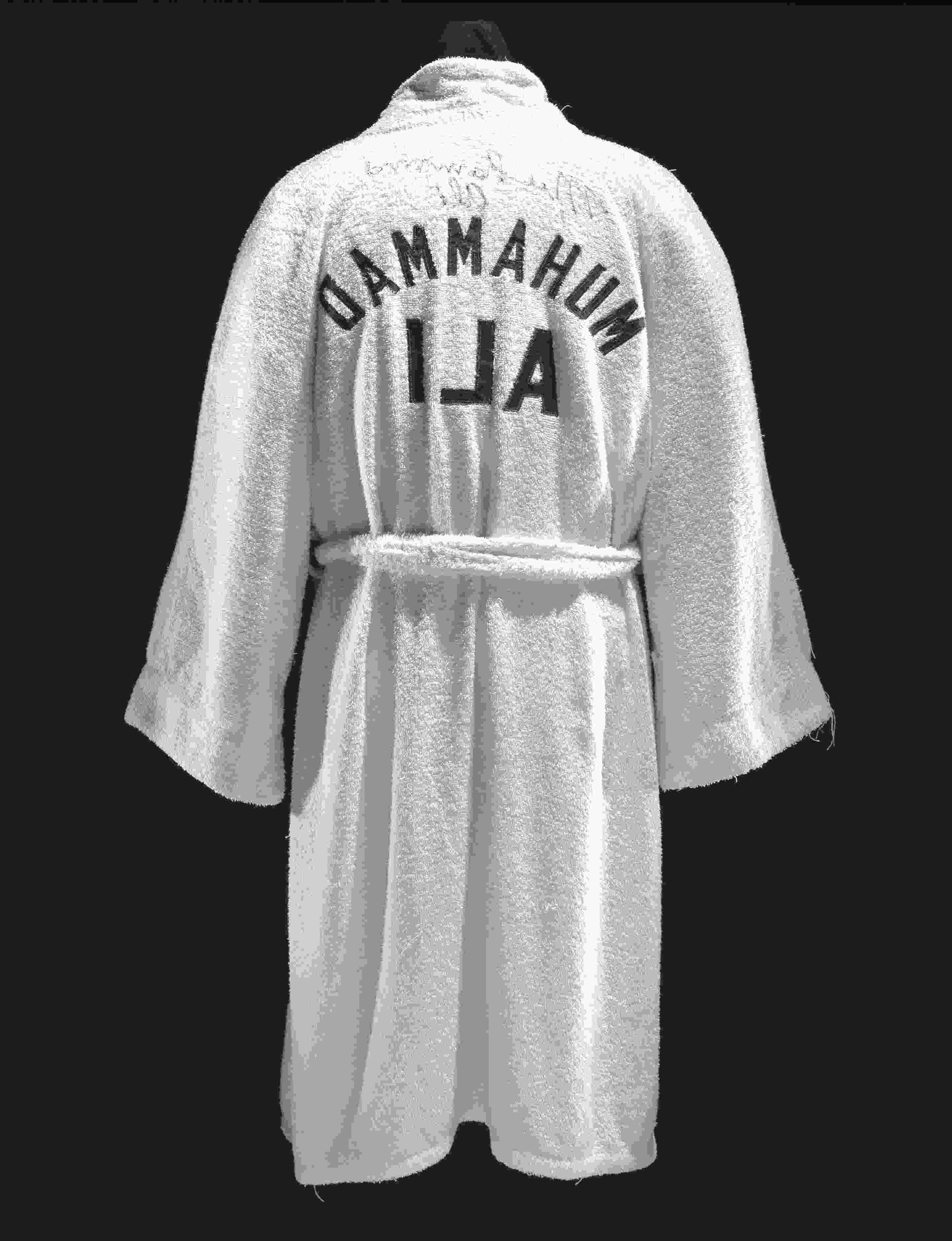 MUHAMMAD ALI NAMEPLATE for AUTOGRAPHED Signed Boxing TRUNKS-ROBE-PHOTO-GLOVES